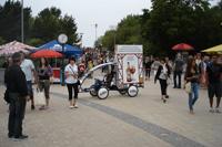 Memel Brau reklamine kampanija, reklaminis velomobilis, reklamos masinos, advertising bike, promobike