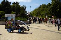 Utenos alus, reklaminis velomobilis, reklamos masinos, advertising bike, promobike